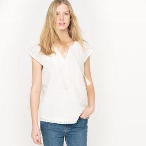 Kurzärmlige Bluse aus besticktem Voile LE TEMPS DES CERISES
