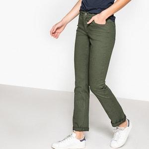 Rechte 5-pockets broek in stretch katoen atelier R