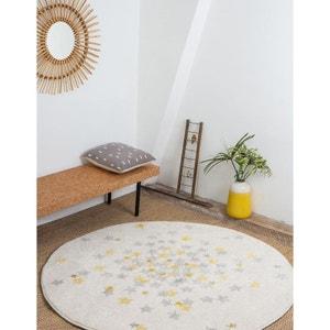NOVA rond étoiles grise et jaune chambre bebe par Art For Kids ART FOR KIDS