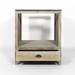 Meuble cuisine AuthentiQ bois recyclé 70cm pour four et plaques  |  JC13 MADE IN MEUBLES