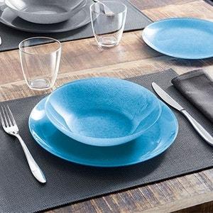 Service de table 18 pièces Stony bleu LUMINARC