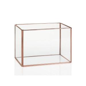 Terrarium verre et cuivre rectangulaire INWOOD
