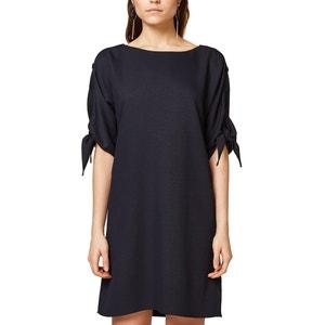 Plain Mini Shift Dress with Short Sleeves ESPRIT