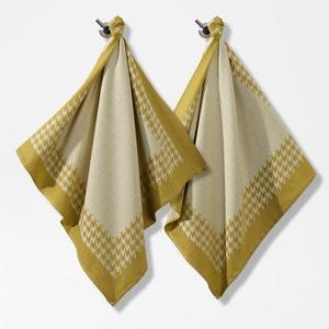 Ręczniki żakardowe w pepitkę (komplet 2 sztuk) La Redoute Interieurs