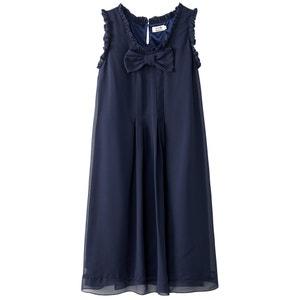 Krótka sukienka z frędzlami i kokardką z przodu MOLLY BRACKEN