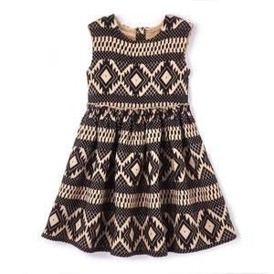 Vestido evasé com motivos brilhantes, 3-12 anos La Redoute Collections