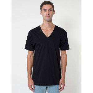 T-Shirt À Manches Courtes Et Col En V AMERICAN APPAREL