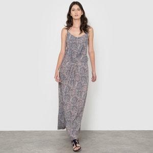 Vestido comprido estampado de alças finas R studio