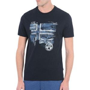 T-Shirt aus Bambusfasern, runder Ausschnitt, Motiv vorne Sancy NAPAPIJRI