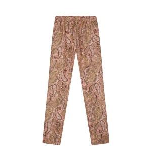 Pantalon pur soie imprimé cachemire DEVERNOIS