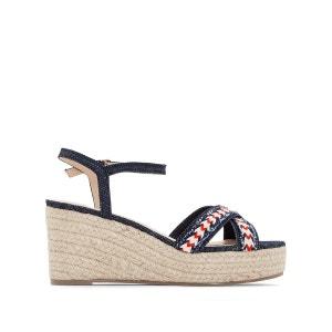 Sandales compensées denim La Redoute Collections