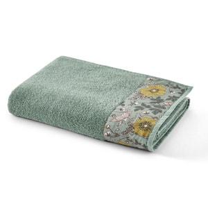 Marthe Cotton Bath Towel with Floral Border
