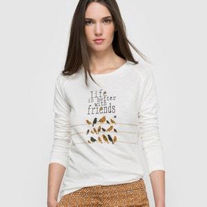 Camiseta de manga larga cuello redondo PARAMITA