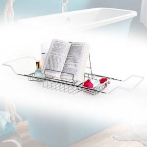 Pont de baignoire chromé avec porte livre ou tablette CALICOSY
