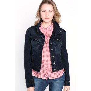 Veste femme en jeans col montant BONOBO