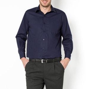 Camisa de popelina manga larga, estatura 2 CASTALUNA FOR MEN