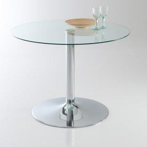 Tavolo rotondo, in vetro temperato, 4 coperti, Janik