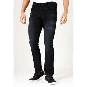 Jeans jogg denim stretchcoupe droite ajustée noir brossé clark RICA LEWIS