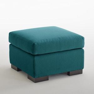 Pouf coton/lin chiné Odessa, confort excellence bultex La Redoute Interieurs