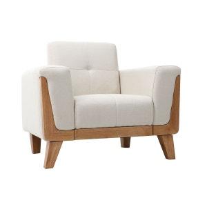 fauteuil scandinave blanc la redoute. Black Bedroom Furniture Sets. Home Design Ideas