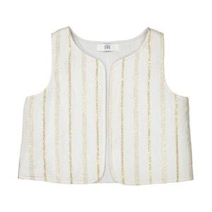 Dwustronny sweter rozpinany bez rękawów 1 miesiąc - 3 lata La Redoute Collections
