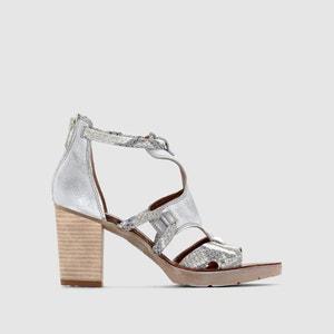 PLAYA Heeled Leather Sandals MJUS