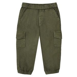 Pantaloni cargo da 1 mese a 3 anni La Redoute Collections