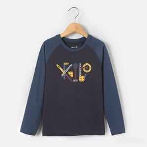 T-shirt maniche lunghe fantasia meccanico 3-12 anni abcd'R