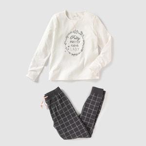 Pijama en dos tejidos, estampado, 10-16 años R pop