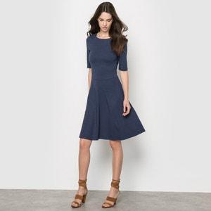 Short-Sleeved Skater Dress ESPRIT