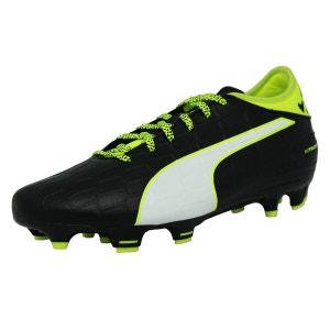 Puma EVOTOUCH 3 FG Chaussures de Football Homme Noir Blanc Jaune PUMA