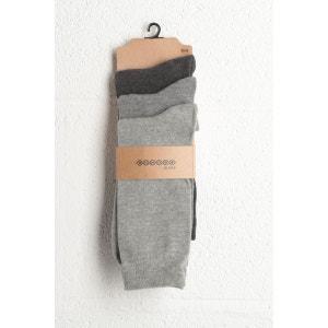 Lot de 3 paires chaussettes homme maille BONOBO