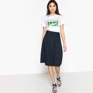 T-shirt imprimé col rond manches courtes pur coton VERO MODA