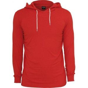T-shirt à capuche URBAN CLASSICS Slim Fit en coton Rouge URBAN CLASSICS