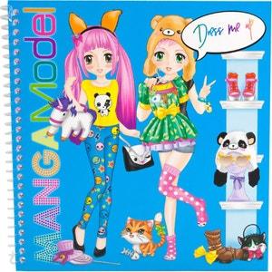 Album coloriage Dress Me Up Manga Top Model KONTAKT CHEMIE