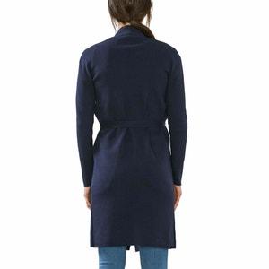 Casaco comprido, corte moderno, cinto na cintura ESPRIT