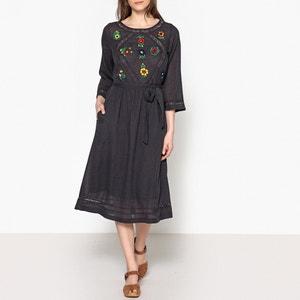 Halblanges Kleid RISETTE, bestickt LEON and HARPER