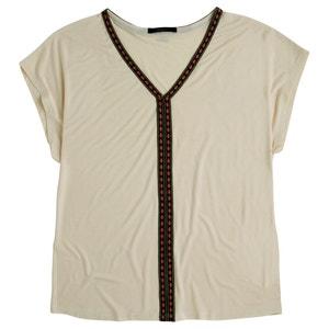 Camiseta lisa con cuello de pico PEPE JEANS
