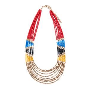 Collier perles esprit ethnique La Redoute Collections