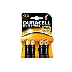 Pack de 4 piles Duracell Plus LR06 Micro AA DURACELL