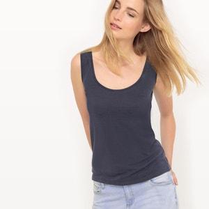 Koszulka z modalu z wycięciem z przodu i z tyłu R essentiel