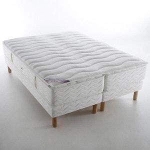 Ensemble BELLE LITERIE, 2 matrassen met 696 pocketveren + 2 bedbodems + bovenmatras met mousse DUVIVIER