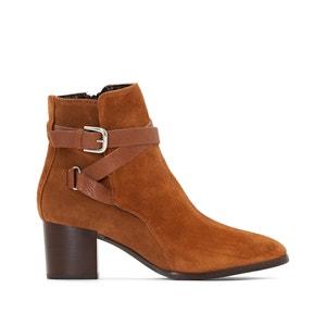 Boots in leer met hak Maddie JONAK