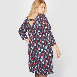 Bedrukte jurk met lint achteraan CASTALUNA