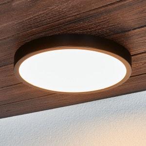 Plafonnier LED noir Liyan, IP54 LAMPENWELT