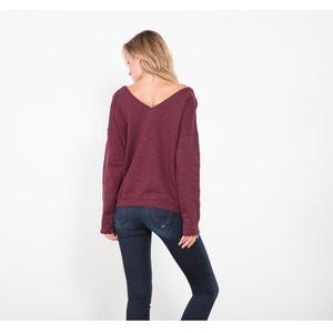 Cotton Sweatshirt with Jewelled Embroidery LE TEMPS DES CERISES