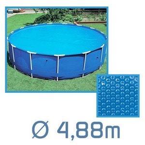 Bâche à bulles ronde 4.88m Ø 180 microns pour piscine Intex ou autre LINXOR