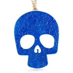 Pendentif en forme de crâne fleuri turquoise EXOTIC EXPRESS