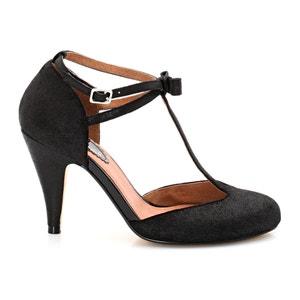 Sapatos com presilha e fivela em metal, laço à frente MADEMOISELLE R