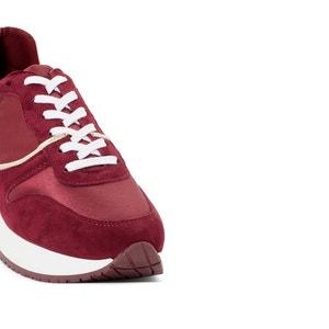 Lage sneakers in leer en stof ANNE WEYBURN